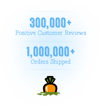 Over 300,000 Customer Reviews and 1,000,000 Orders Shipped!
